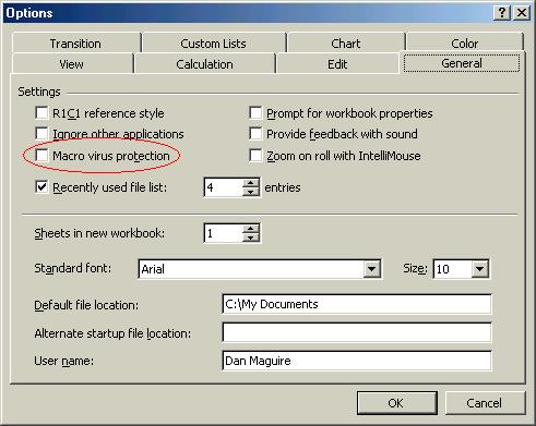 AC6LA Software - Macro Virus Warnings